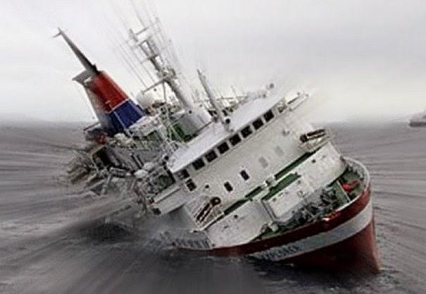 Kapal Taiwan Tengelam di samudera atlantik