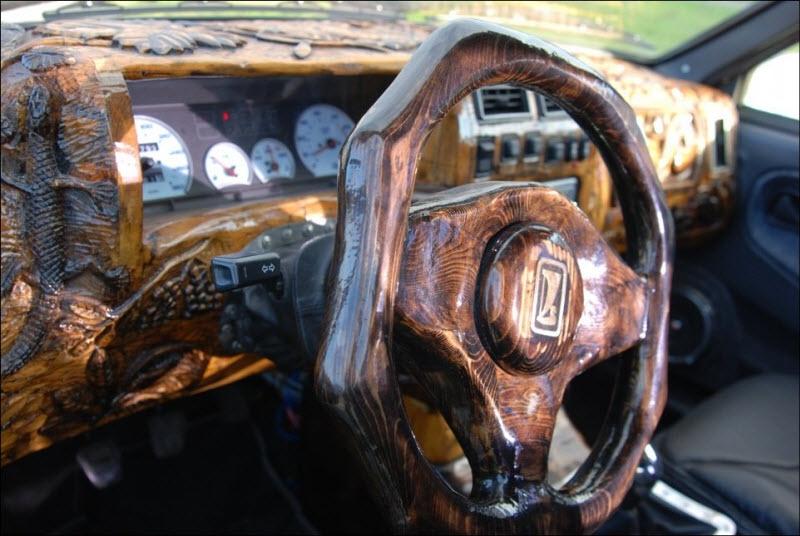 Information Hub Cool Wooden Car Dashboard - Cool car dashboards