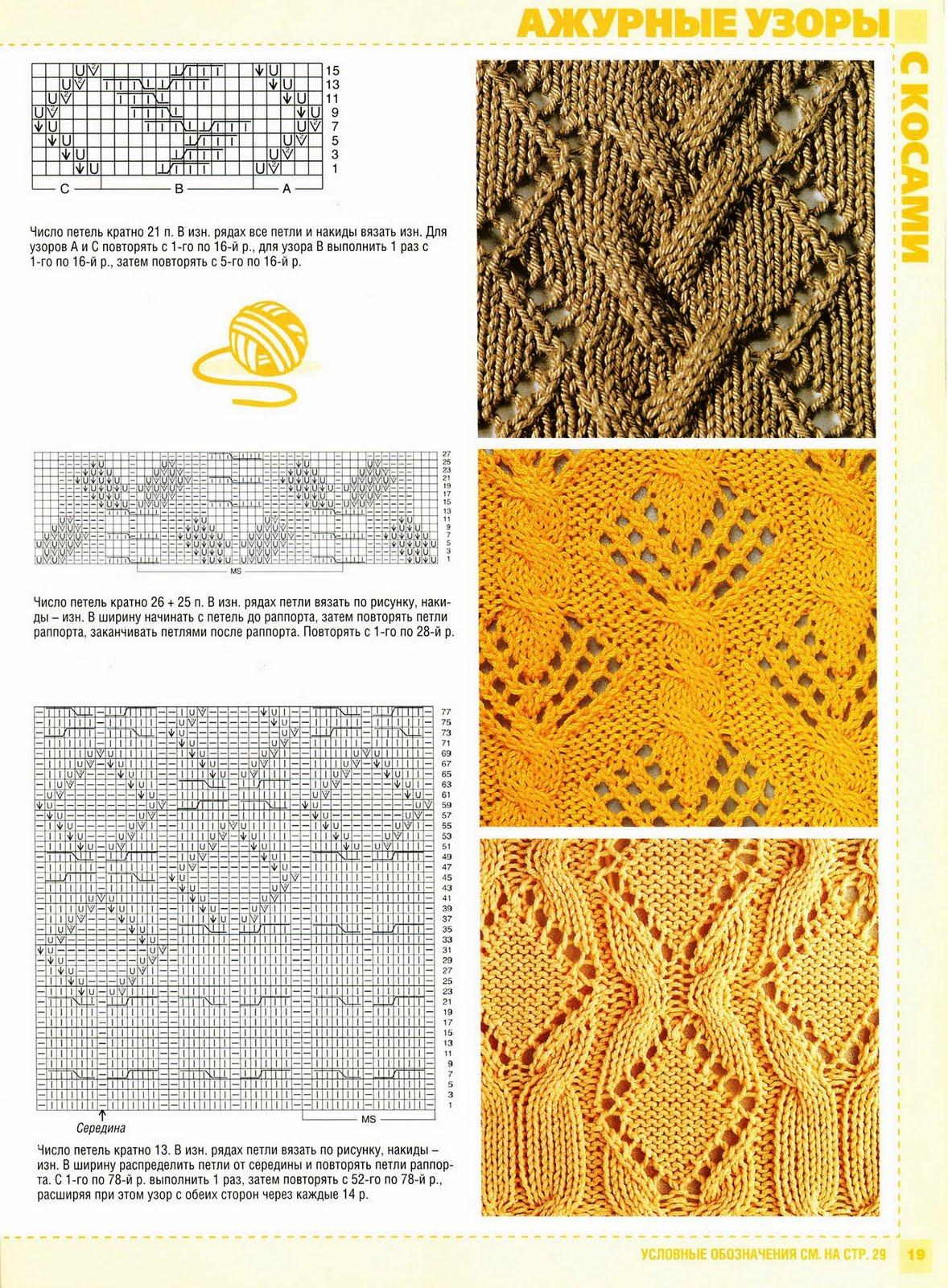 Узор орнаменты для вязания спицами
