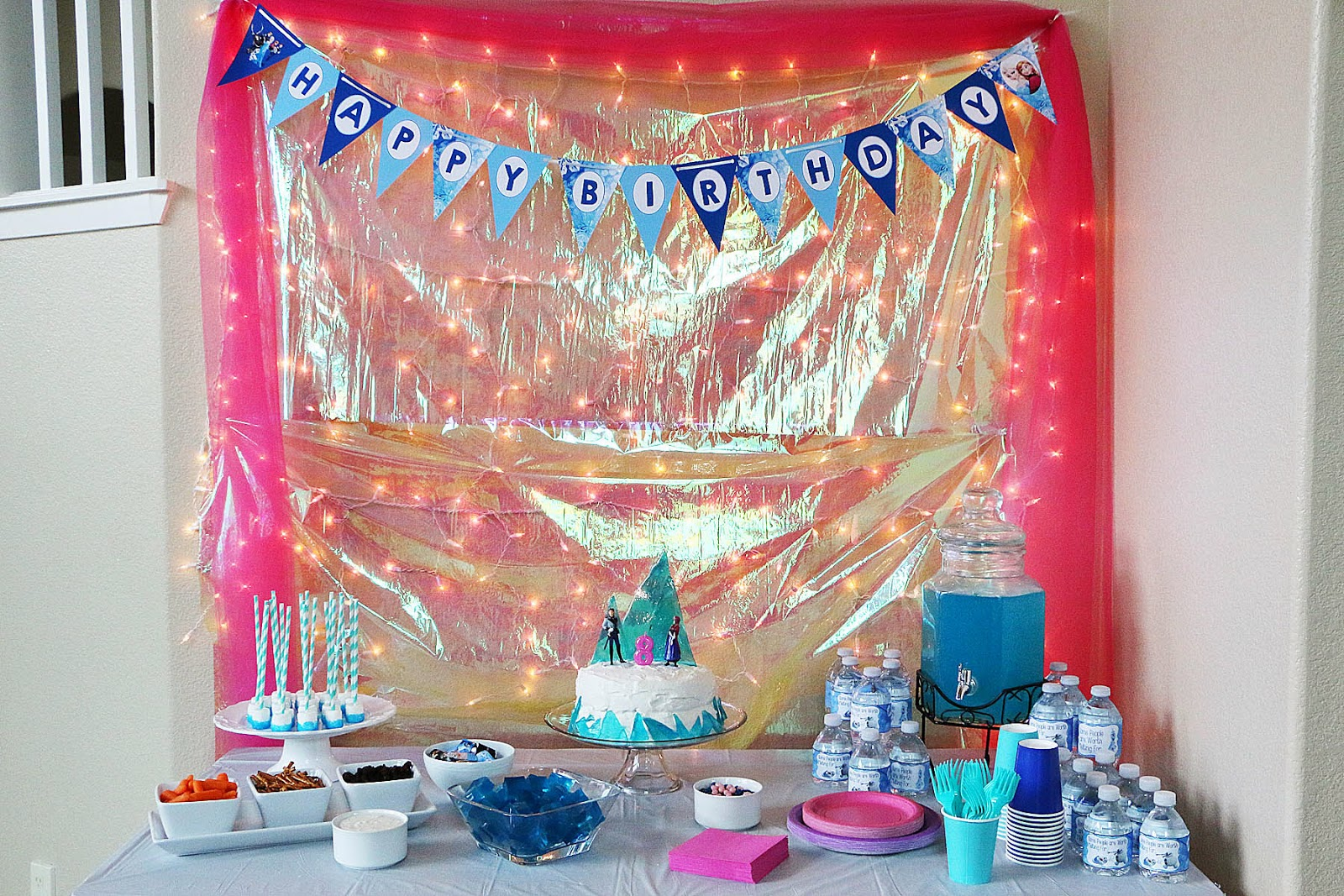 Frozen Birthday Cake Walmart The happy birthday sign was