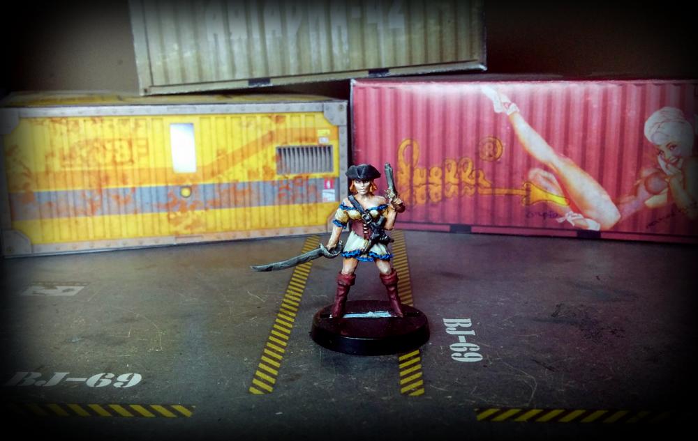Pirate Girl -  Black Scorpion miniatures - front