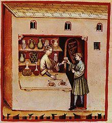 Una apotecaria medieval