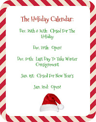 The Holiday Calender!