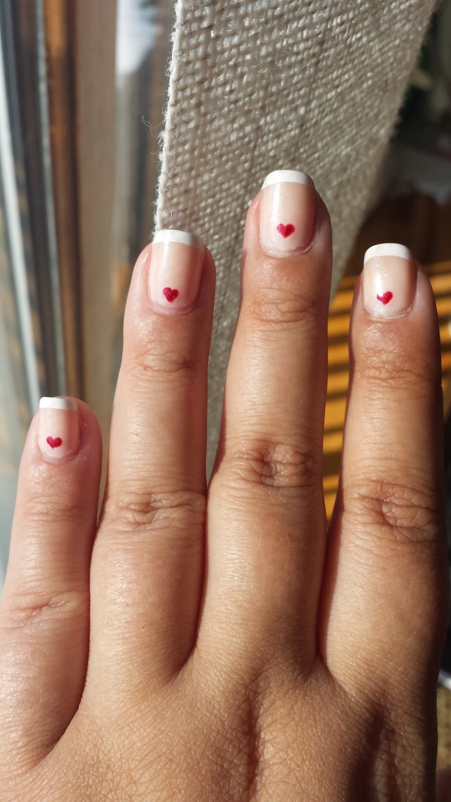 Noxyism valentines day nails polishes used were essies grow faster base coat flower beauty naild it in thats just dan de lion nyc long wearing nail enamel in french tip white izmirmasajfo