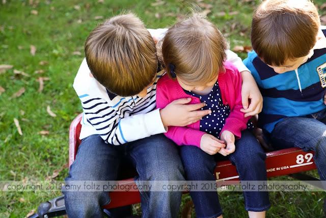 photo of siblings at Fowler Park - Terre Haute, IN