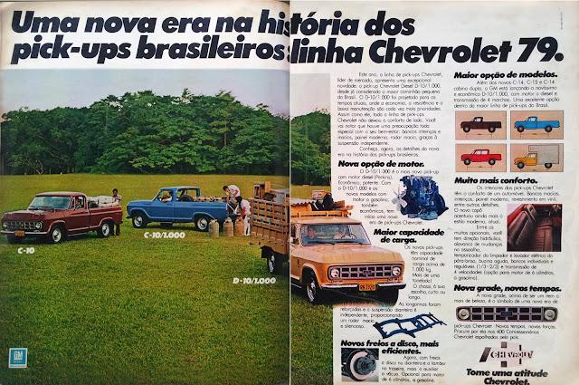 propaganda pick-ups Chevrolet - 1979, reclame anos 70