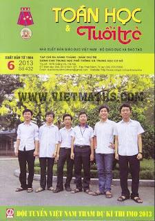 Báo Tạp chí Toán Học Và Tuổi Trẻ số 432 tháng 6 năm 2013, bao tap chi toan hoc tuoi tre 432
