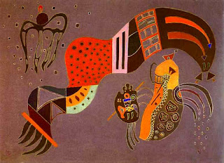 Tempered Elan 1944 - Wassily Kandinsky painting
