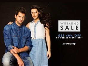 Weekend Sale: Flat 40% Extra Off on Clothing / Footwear @ Myntra