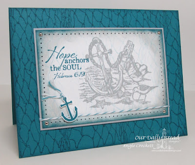 ODBD Anchor the Soul, ODBD Fishing Net Background, Card Designer Angie Crockett
