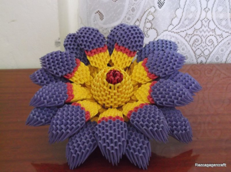 Razcapapercraft 3d origami lotus flower 3d origami lotus flower mightylinksfo