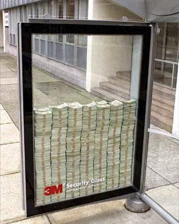 """3M Security Glass (""""Vidro de segurança"""")"""