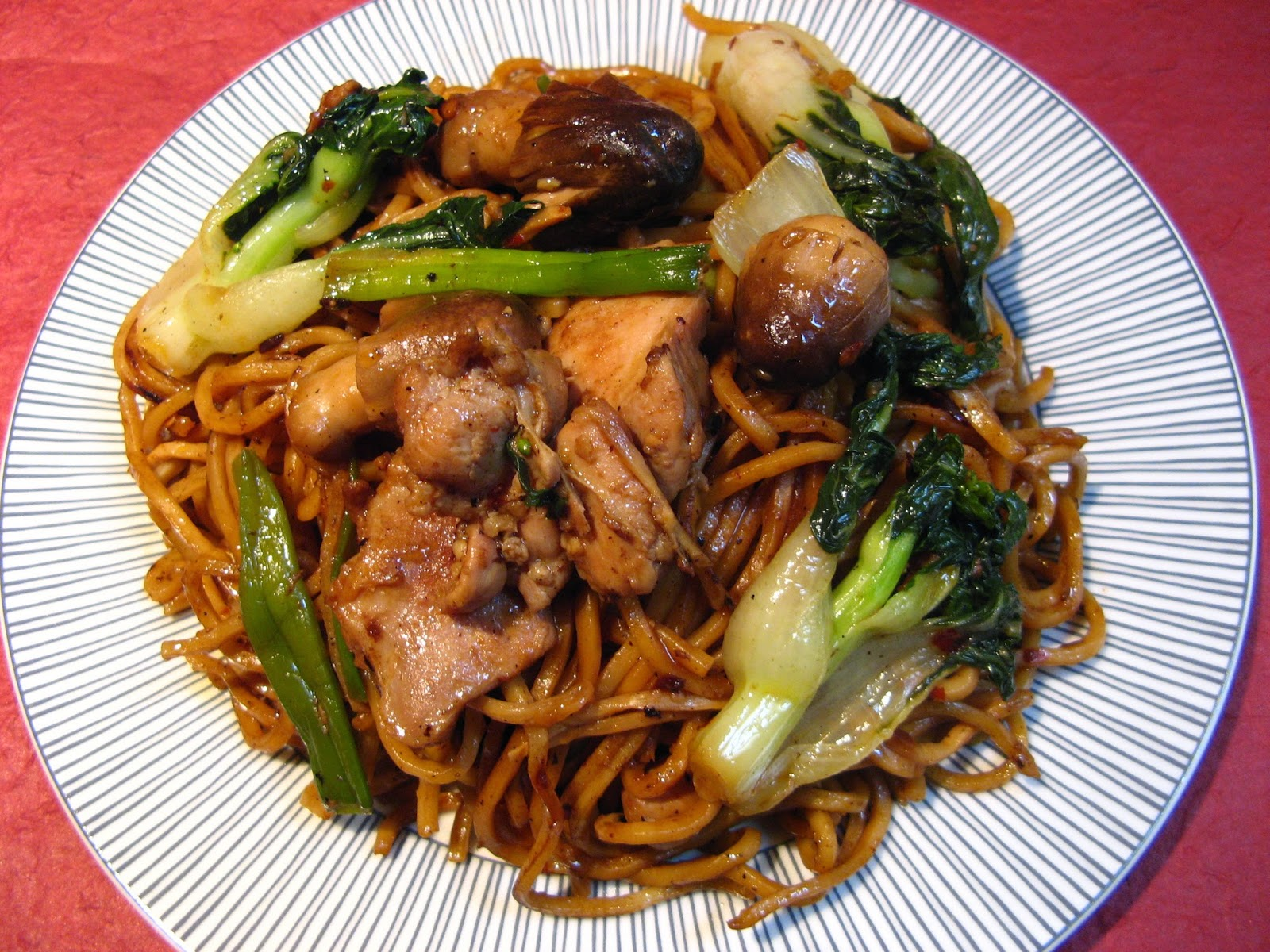 Baby Choy Sum Chicken Chow Mein (小菜心雞炒麵, Siu2 Coi3 Sam1 ...