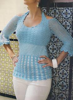 Fresca blusa azul