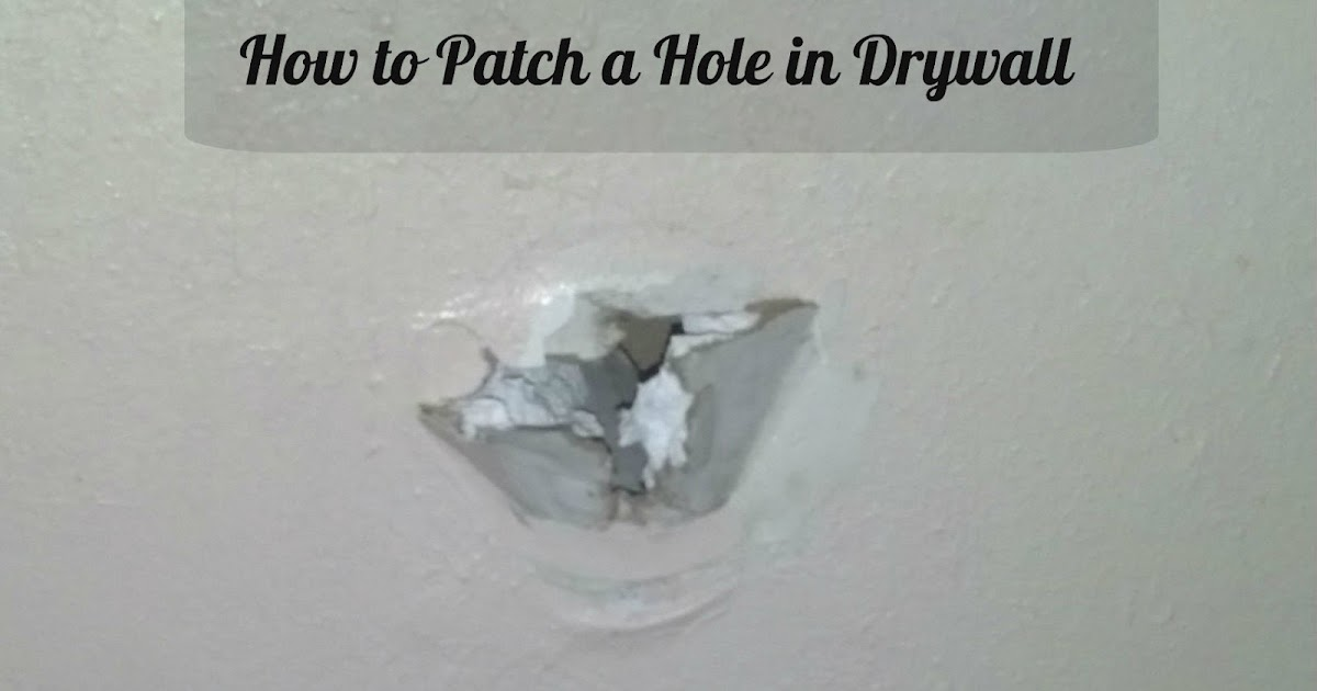 toqua 39 s crafts how to patch a hole in drywall. Black Bedroom Furniture Sets. Home Design Ideas