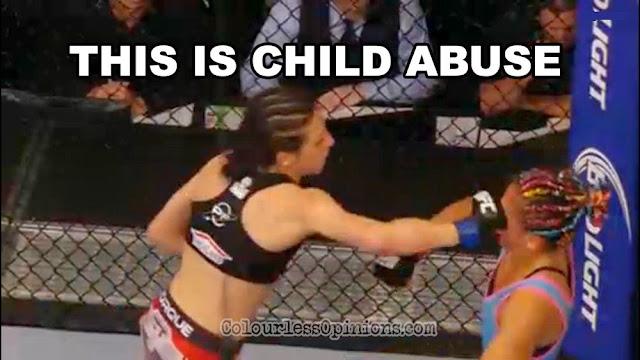 UFC 185 child abuse meme Jędrzejczyk esparza