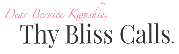 Thy Bliss Calls...