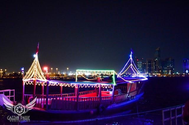 Doha Corniche - beautiful night vision photos
