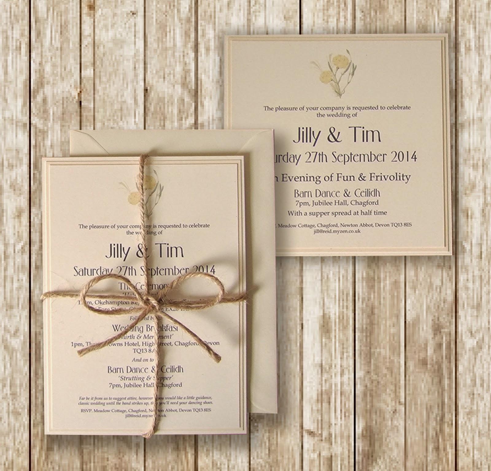 Knots and Kisses Wedding Stationery: Rustic Lemon & Cream Wedding ...