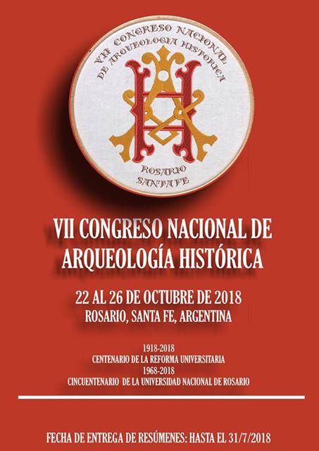 2018 - VII CONGRESO DE ARQUEOLOGIA HISTORICA DE ARGENTINA
