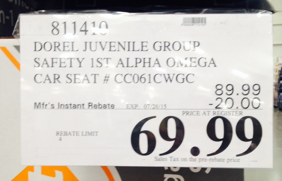 Deal For The Safety 1st Alpha Omega Elite 3 In 1 Car Seat CC061CWGC