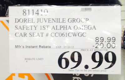Deal for  the Safety 1st Alpha Omega Elite 3-in-1 Car Seat CC061CWGC at Costco