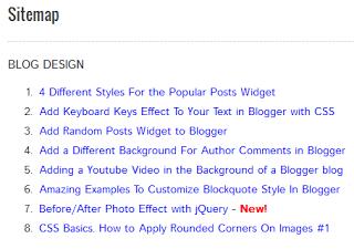 tạo Sitemap hoặc liệt kê danh sách bài viết