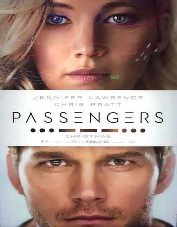 Poster Of Passengers 2016 In Hindi Bluray 720P Free Download
