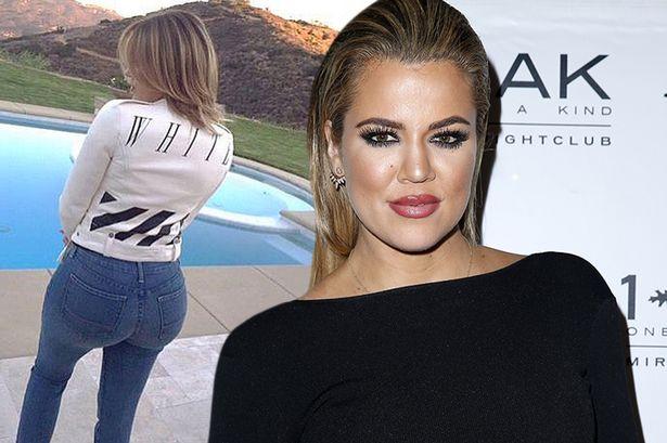 Khloe Kardashian faz irmão Rob tirar uma foto de sua bunda!