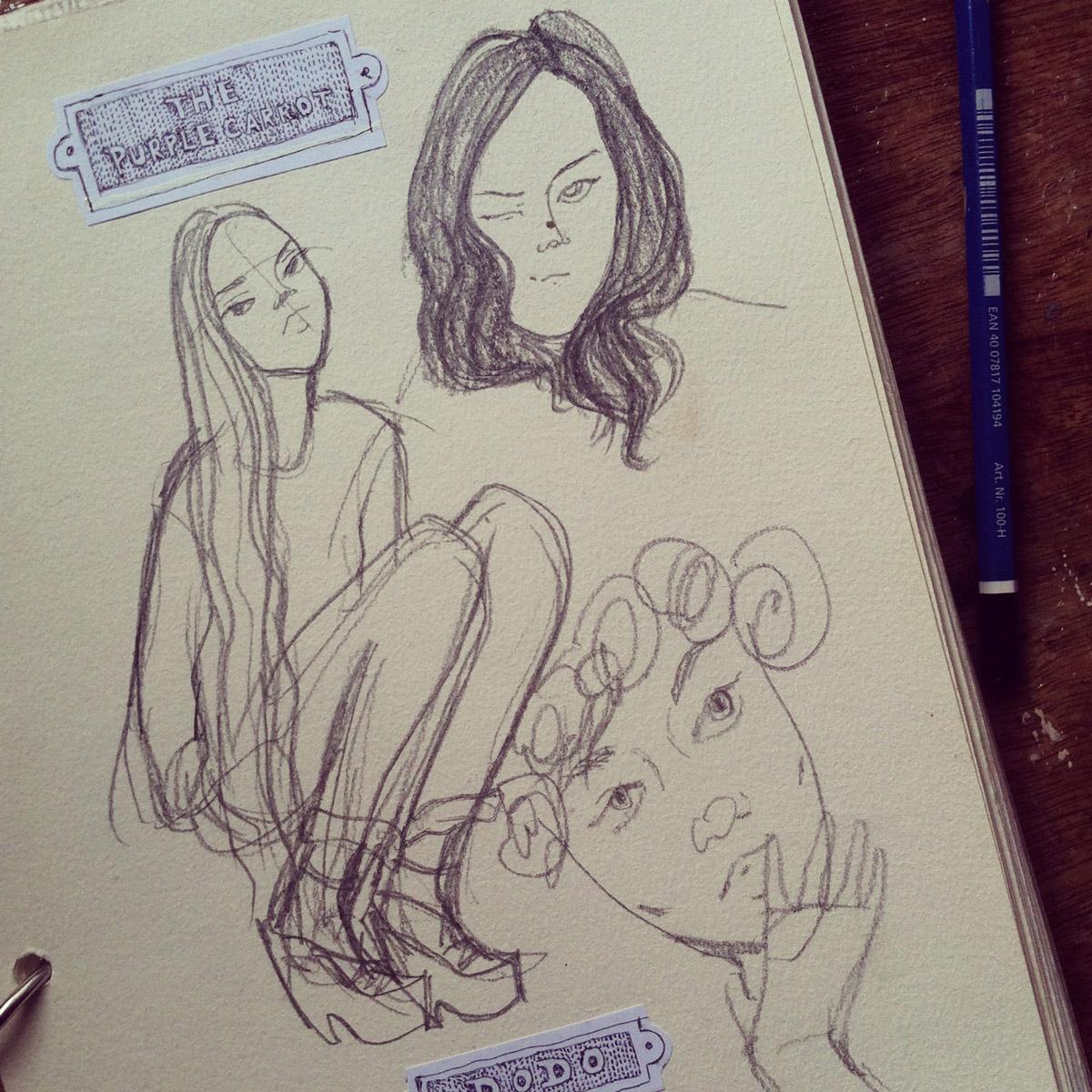 Kitty N. Wong / Sketchbook Girls Collage