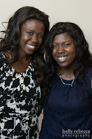Grace Mikaelle (on right!) her Haitian sister Magnalie on left!)