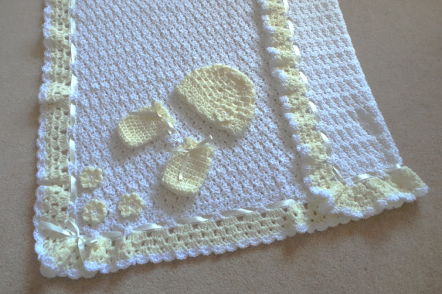 Handmade Knitted/Crochet Baby Granny Patchwork Blanket Throw for Sale