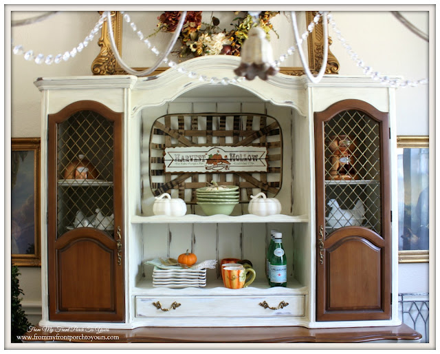 French Country- Farmhouse-Dining Room Hutch-Fall Dining Room-From My Front Porch To Yours