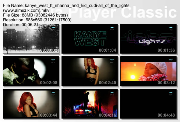 rihanna and kanye west all of lights. kanye west all of lights