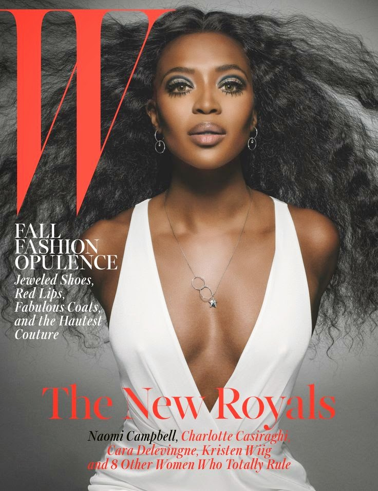 Naomi Campbell: New Royals W Magazine Oct 2014