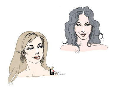 dessins de visages de femmes