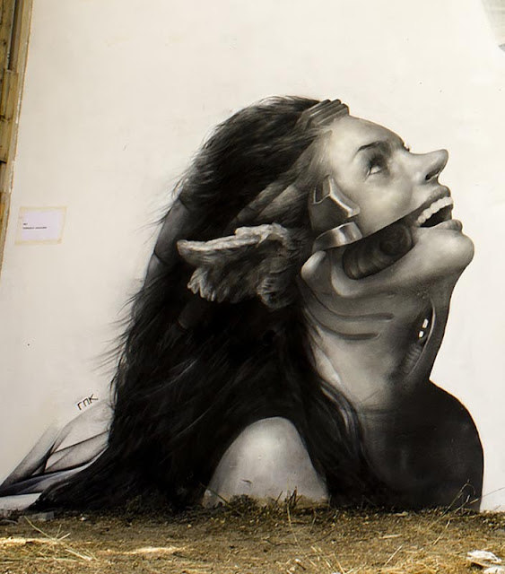 Street Art Collaboration By iNO and George Kavounis In Athens, Greece 2