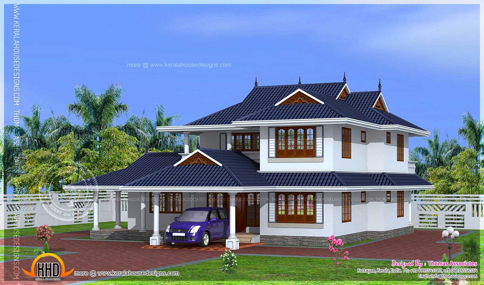 204 square meter kerala model house design kerala home for Latest kerala model house plans