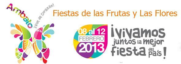 Programa del Carnaval de Ambato 2013 Fiestas Flores y Frutas