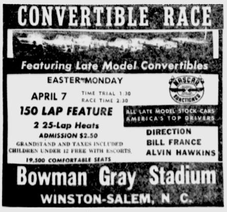 Winston Salem Escorts >> Bench Racing From The Volunteer State April 7 1958 Welborn Wins