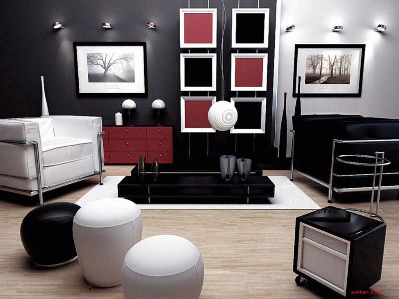Retro living room decor