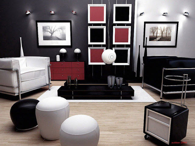 Modern retro living room design ideas photo