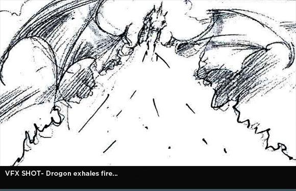 storyboard escena final episodio 3x04 drogon - Juego de Tronos en los siete reinos