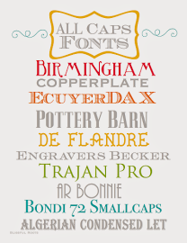10 Free ALL  CAPS Fonts