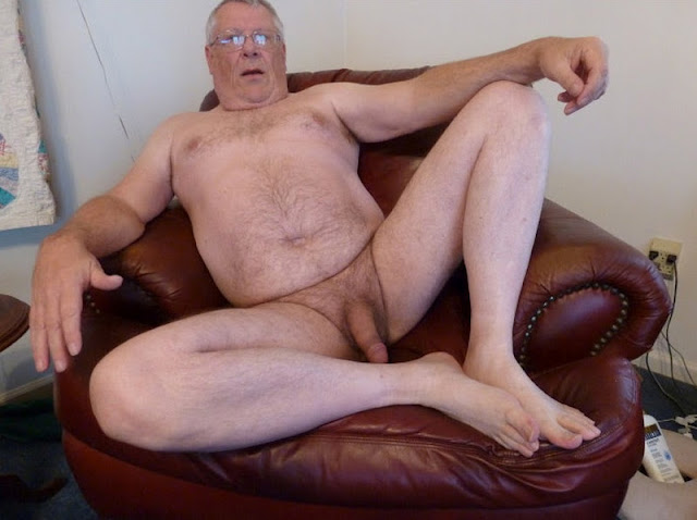 GlassesOn Chubby Silver Daddy with Big Soft Cock