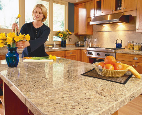 Countertop Perfect Companion Recycled Glass Tile:Kitchen ...