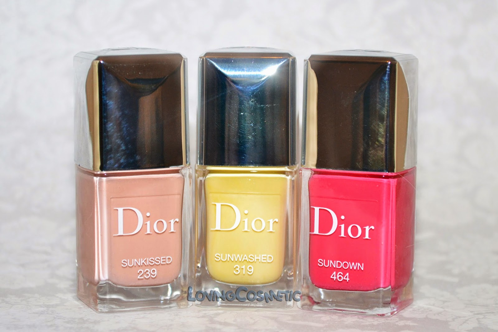 Dior Tie & Dye coleccion collection 2015 summer verano vernis sunwashed 319 sunkissed 239 sundown 464 tie dye top coar swatch swatches