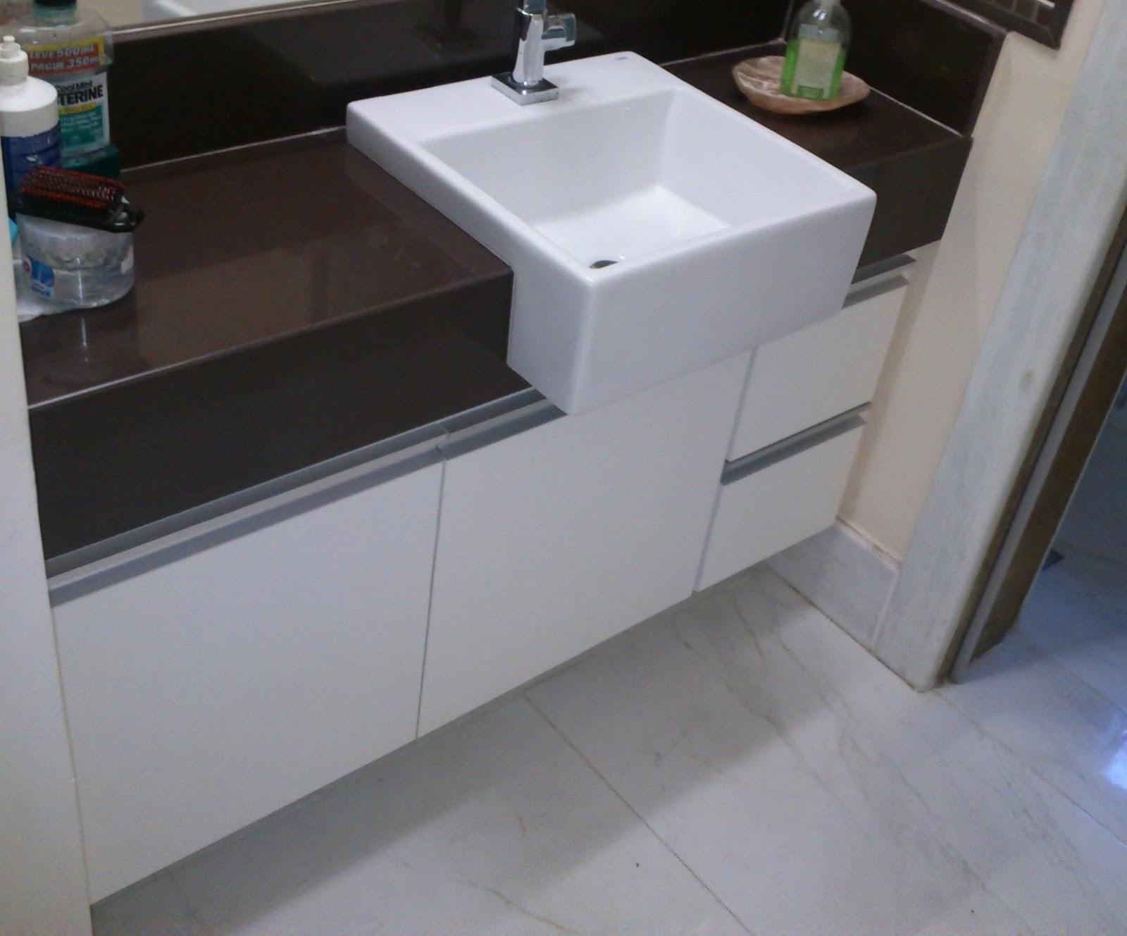 Lopes arm rios planejados arm rio para lavabo padr o branco portas em 18mm corredi as - Perfiles de aluminio para armarios ...