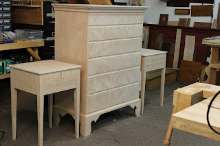 Handcrafted Chest and Nightstands