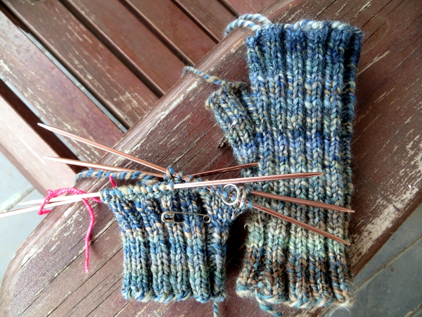 handspun knitting
